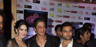 Shahrukh Khan, Sunny Leone and Sachiin Joshi attend Jackpot premiere