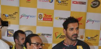 John Abraham attends Godrej Tour De India event