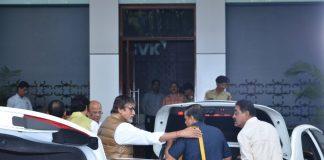 Amitabh Bachchan and Abhishek Bachchan spotted leaving for Bhopal