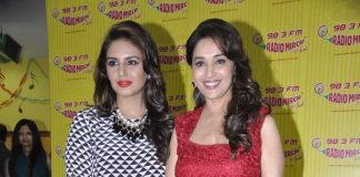 Huma Qureshi and Madhuri Dixit promote Dedh Ishqiya at Radio Mirchi