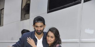 Shraddha Kapoor and Aditya Roy Kapoor spotted at Filmistan Studios