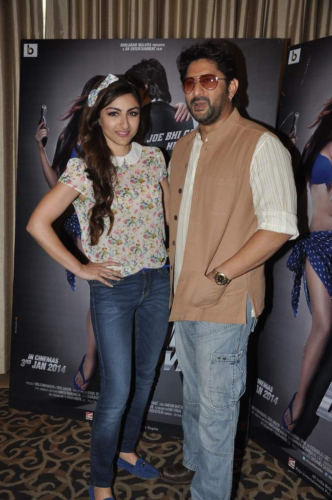 Soha and Arshad at Mr. Joe B.Carvalho press meet (2)