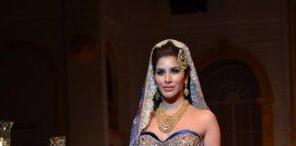 Sophie Chaudhary walks the ramp for Mandira Wirk
