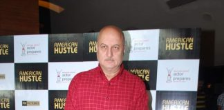 Anupam Kher attends American Hustle screening