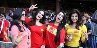 Sunny Leone, Trisha Krishnan, Sridevi snapped at CCL 2014 match – Photos