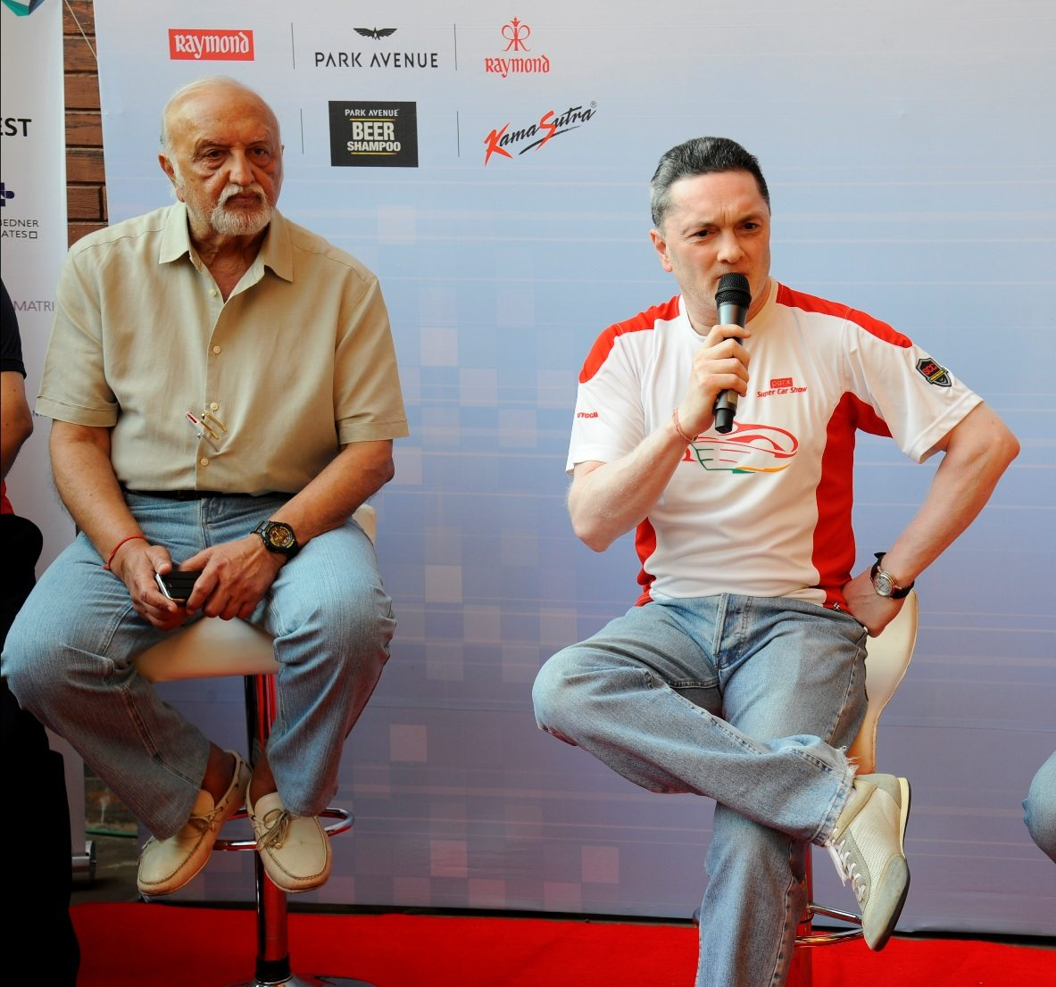 Dr. Vijaypat Singhania and Mr. Gautam Singhania, Founder & Chairman, Super Car Club and Chairman & Managing Director, Raymond Limited