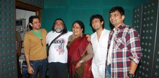 Gaurang Doshi, Sonu Nigam, Usha Uthup attend Happy Anniversary music recording