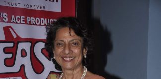 Tanuja snapped at Grease play in Mumbai – Photos