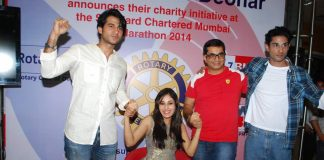 Pooja Chopra, Prateik Babbar attend Rotary Club Marathon press meet