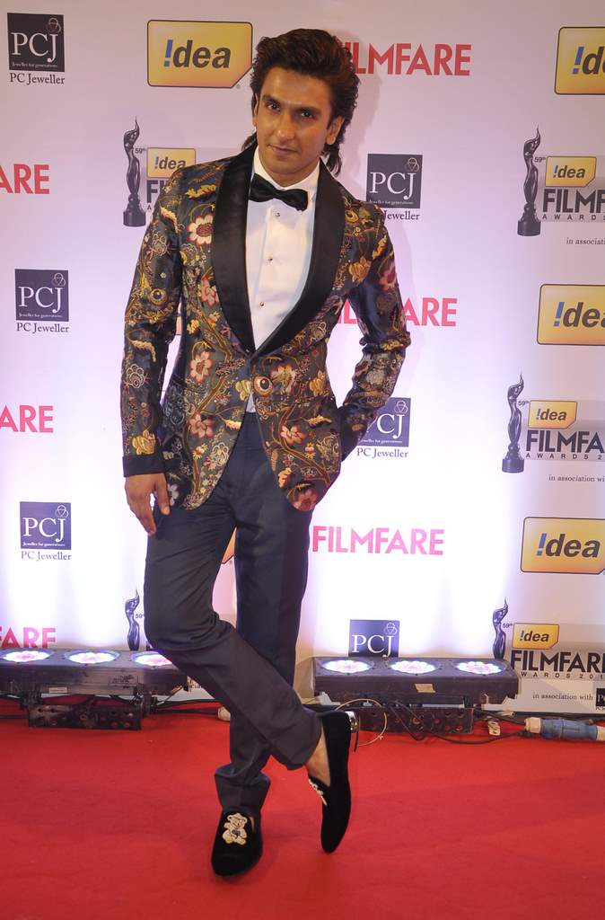 Ranveer Singh walked the Red Carpet at the 59th Idea Filmfare Awards 2013 at Yash Raj