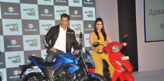 Salman Khan, Parineeti Chopra promote new Suzuki scooter and bike