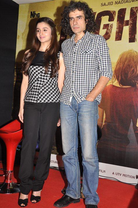 Alia Bhatt with Imtiaz Ali