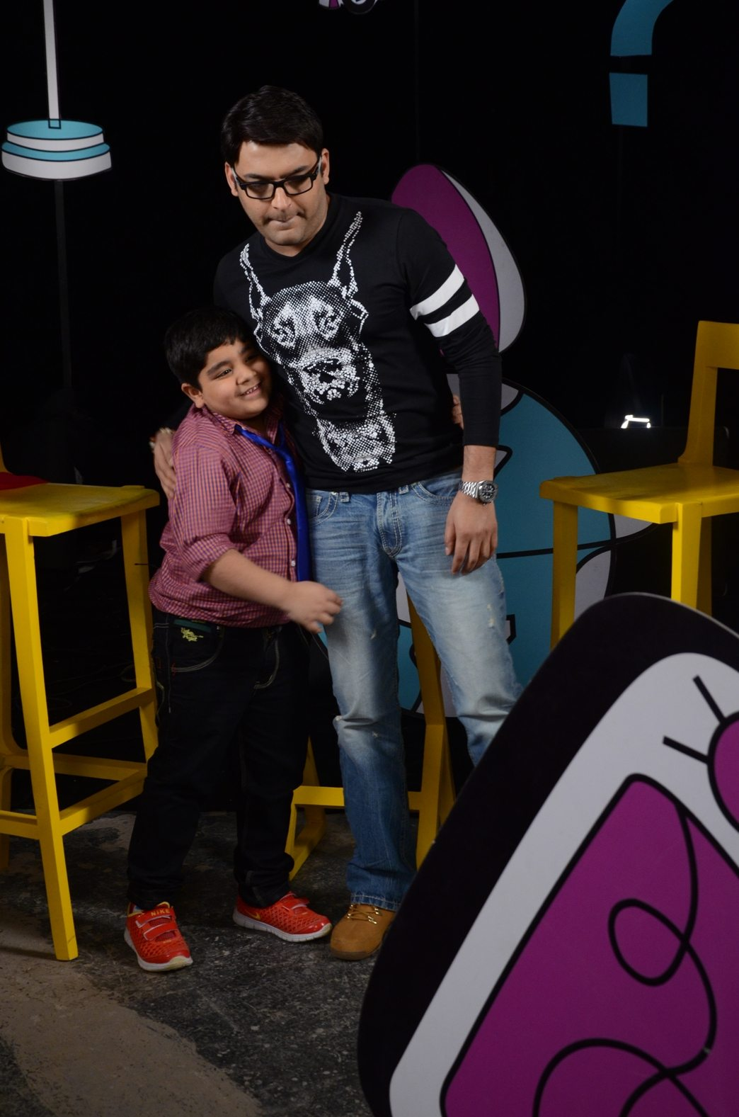 Captain Tiao strikes a pose with Comedy king Kapil Sharma