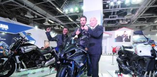 John Abraham visits Yamaha Pavilion at Auto Expo 2014 – Photos