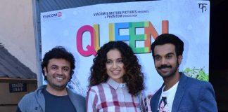 Kangna Ranaut, Rajkummar Rao, Vikas Bahl promote Queen in Bandra