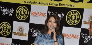 Madhuri Dixit promotes Gulaab Gang at Gold's Gym