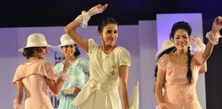 Models walk the ramp for Rachana Sansad's fashion show Collezione 2014