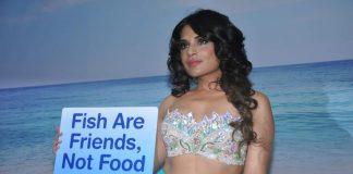 Richa Chadda poses as mermaid during Peta shoot