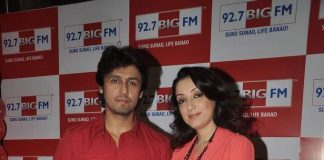 Sonu Nigam attends Valentine's Day show with wife at BIG FM 92.7 Studios