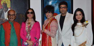 Zeenat Aman, Rati Agnihotri attend Raosaheb Gurav's exhibition