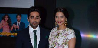 Sonam Kapoor, Ayushmann Khurana attend Bewakoofiyaan promotion