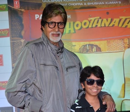 Amitabh Bachchan attends Bhoothnath Returns promotional event