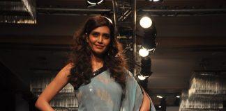Karishma Tanna walks ramp for Love From India at Lakme Fashion Week 2014