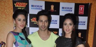 Varun Dhawan, Ileana D'Cruz, Nargis Fakhri attend Main Tera Hero promotion