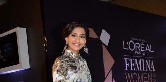Sonam Kapoor attends L'Oreal Paris Femina Women Awards launch event
