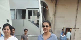 Vidya Balan snapped leaving sets of ad shoot – Photos