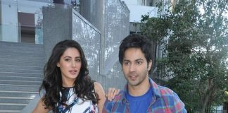 Nargis Fakhri, Varun Dhawan promote Main Tera Hero at Mithibai College