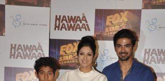 Sridevi launches trailer video of Hawaa Hawaai
