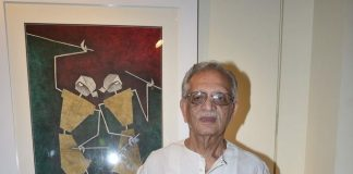 Lyricist Gulzar launches painting exhibition Epic on Rock Shelters