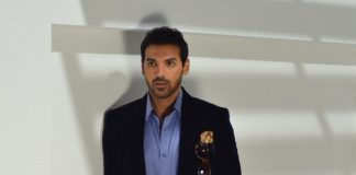 John Abraham shoots for Grasim new collection 2014