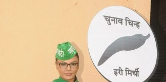Rakhi Sawant drives around town to promote women employment