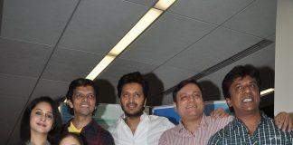 Riteish Deshmukh attends Marathi movie Yellow press conference