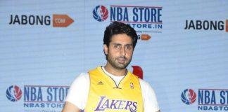 Abhishek Bachchan attends NBA's Jabong store launch event
