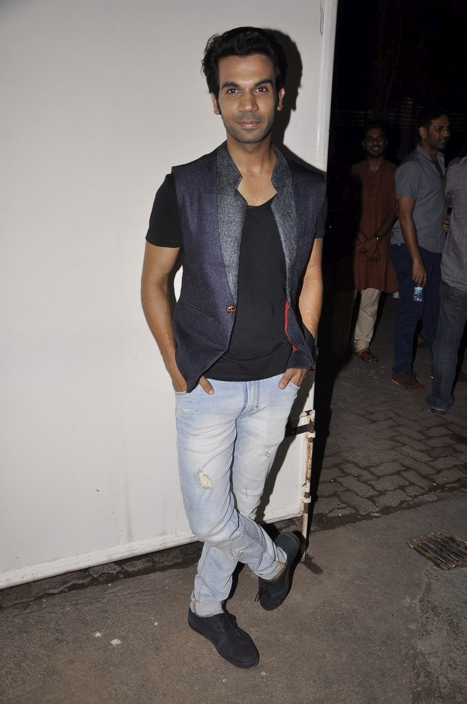 Citylights lead actor Rajkumar Rao at the screening