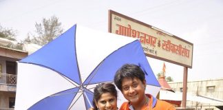 Sai Tamhankar, Swapnil Joshi on sets of Pyaar Wali Love Story