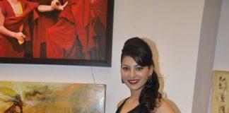 Urvashi Rautela attends JS art gallery inauguration