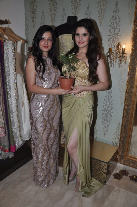 Zarine Khan at Amy Billimoria store
