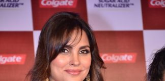 Lara Dutta attends the launch  of new Colgate toothpaste