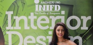 Mahek Chahal attends INIFD Academy of Interiors launch