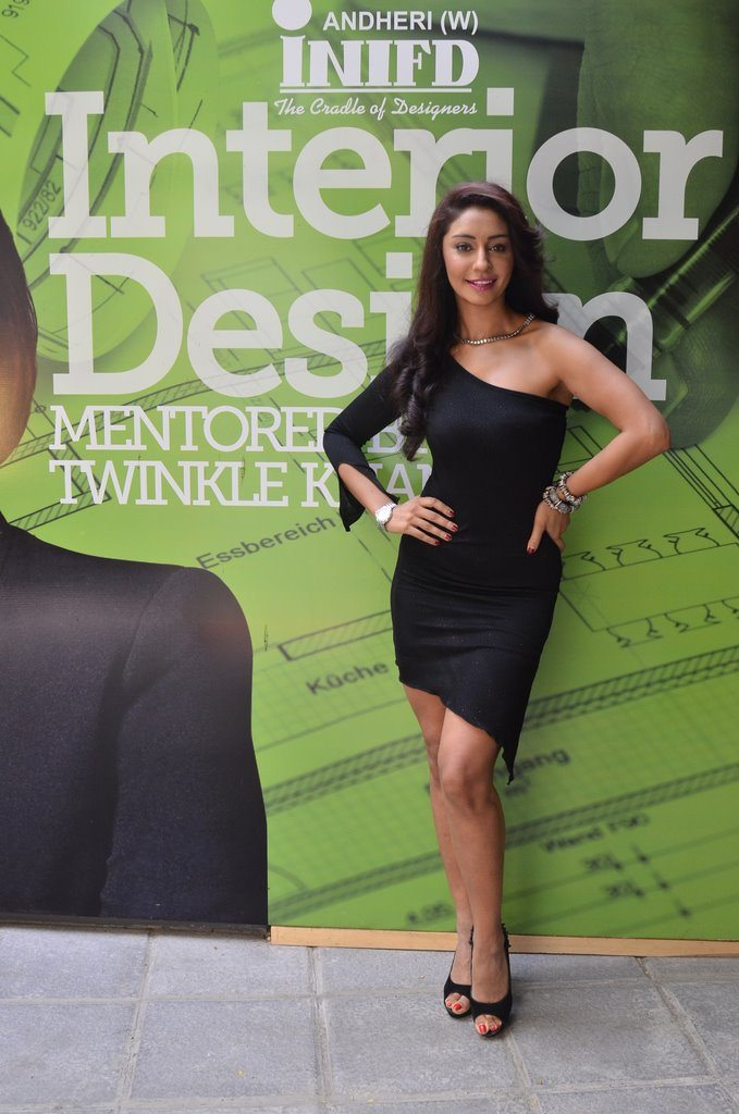 Bollywood personality Mahek Chahal attends INFID Academy of Interiors launch in Mumbai.