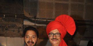 Pooja Sawant, Shreyas Talpade on Marathi movie Poshter Boyz' sets