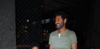 Prabhu Deva snapped with son at PVR