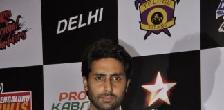 Abhishek Bachchan attends Pro-Kabaddi League Press Meet