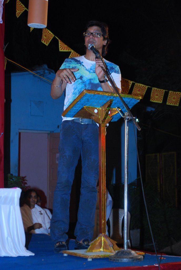 Singer Shaan attends a Brahmakumari event in Mumbai.