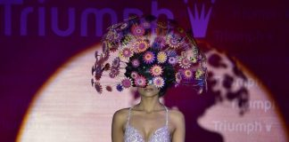 Models sizzle the ramp at Triumph Fashion Show 2014