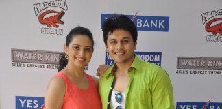 Shruti Marathe, Gaurav Ghatnekar promote Tujhi Majhi Lovestory at Water Kingdom